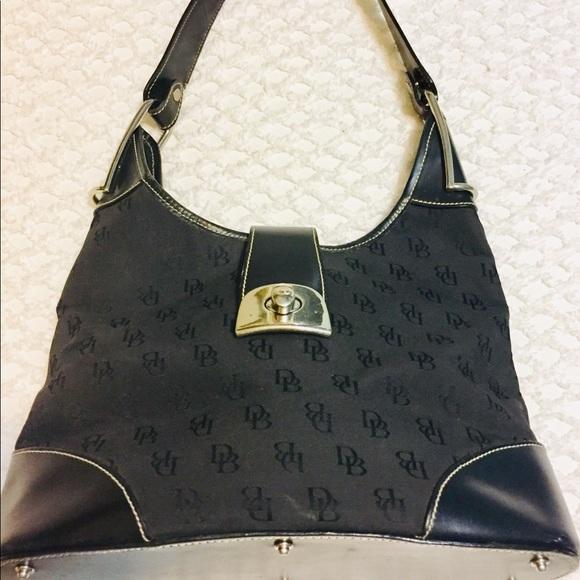 Dooney & Bourke Handbags - DOONEY & BOURKE Black Canvas Shoulder Bag